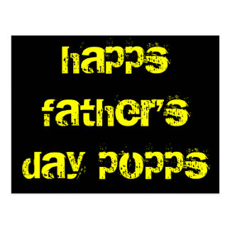 happs father's day popps postcard