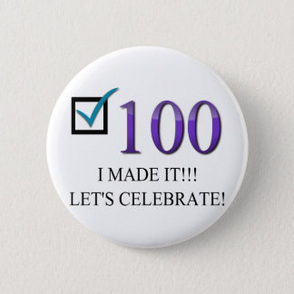Happy 100th Birthday 2 Inch Round Button