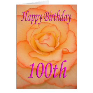 Happy 100th Birthday Flower Card