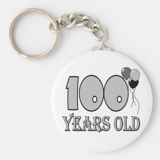 Happy 100th Birthday Gifts and Birthday Apparel Keychains