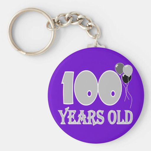 Happy 100th Birthday Gifts and Birthday Apparel Key Chains