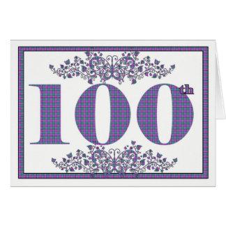 Happy 100th Birthday gingham card