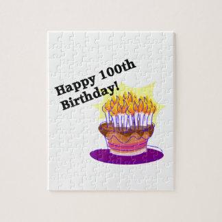 Happy 100th Birthday Jigsaw Puzzle
