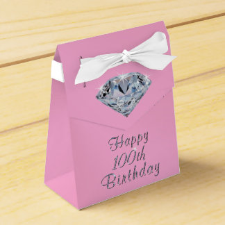 Happy 100th Birthday Party Favor Boxes Your Colors