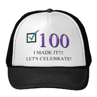 Happy 100th Birthday Trucker Hat