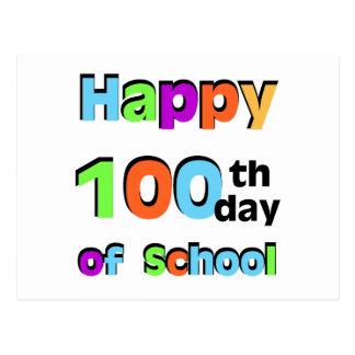 Happy 100th Day of School Postcard