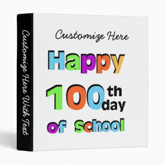 Happy 100th Day of School Vinyl Binder