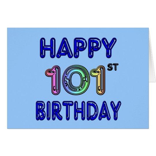Happy 101st Birthday Card