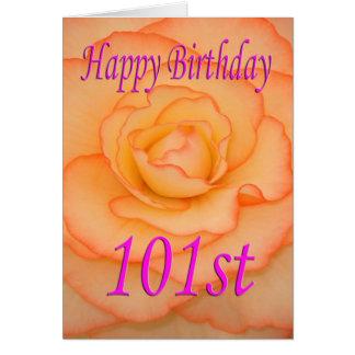 Happy 101st Birthday Flower Card
