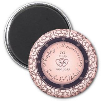 Happy 10th Anniversary 2 Inch Round Magnet