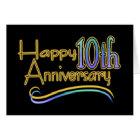 Happy 10th Anniversary Card