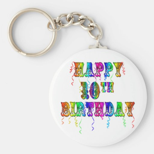Happy 10th Birthday Gifts and Birthday Apparel Keychain