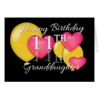 Happy 11th Birthday Granddaughter Card