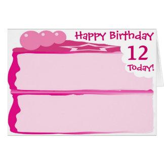 Happy 12th Birthday Card