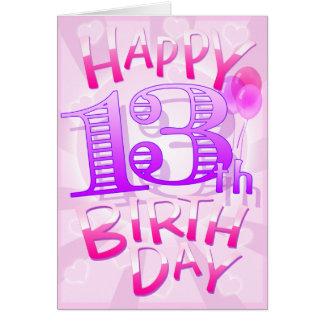 Happy 13th Birthday Card