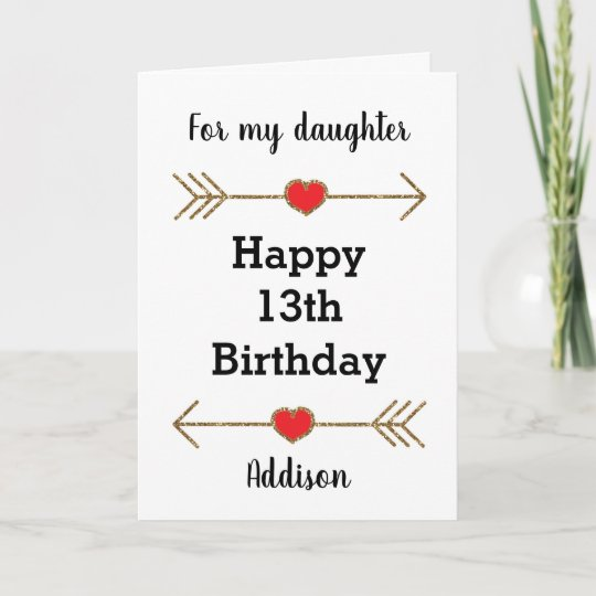 Happy 13th Birthday Daughter Card