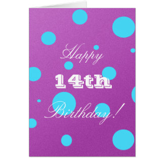 Happy 14th Birthday Card for Girl