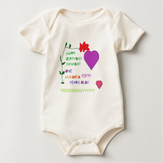 'Happy 150th Birthday Canada' Baby Romper