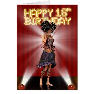 Happy 16h Birthday , truly a star deva on stage Card