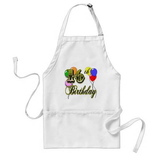 Happy 16th Birthday Gifts and Birthday Apparel Apron