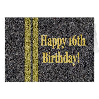 Happy 16th Sixteenth Birthday Driver License Card
