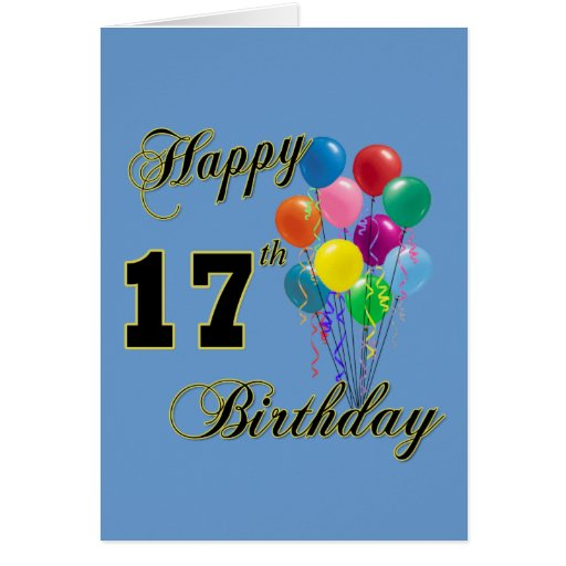 Happy 17th Birthday Cards, Photocards, Invitations & More