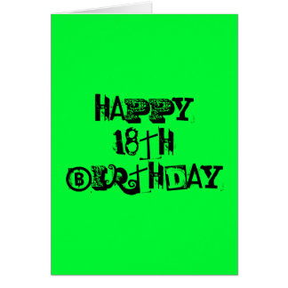 Happy 18th Birthday Card