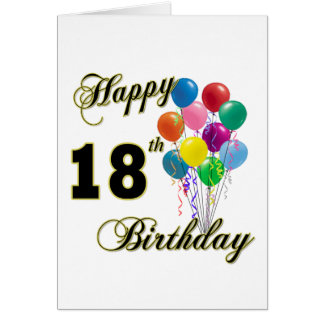 Happy 18th Birthday Gifts Card