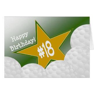 Happy 18th Birthday, Golf Star! Card
