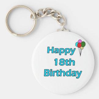 Happy 18th Birthday Key Chain