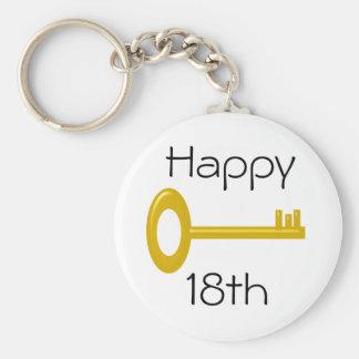 Happy 18th Birthday Keyring