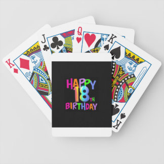 HAPPY 18TH BIRTHDAY MULTI COLOUR BICYCLE PLAYING CARDS