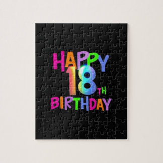 HAPPY 18TH BIRTHDAY MULTI COLOUR JIGSAW PUZZLE