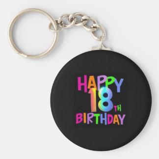HAPPY 18TH BIRTHDAY MULTI COLOUR KEYCHAIN