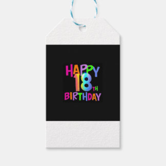 HAPPY 18TH BIRTHDAY MULTI COLOUR PACK OF GIFT TAGS
