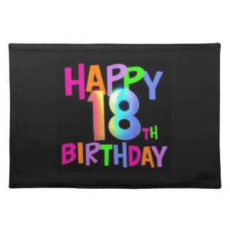 HAPPY 18TH BIRTHDAY MULTI COLOUR PLACEMAT