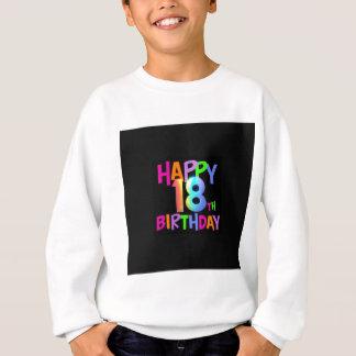 HAPPY 18TH BIRTHDAY MULTI COLOUR SWEATSHIRT