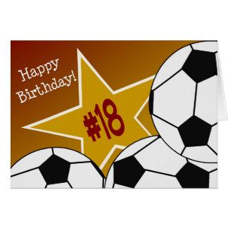 Happy 18th Birthday, Soccer Star! Card