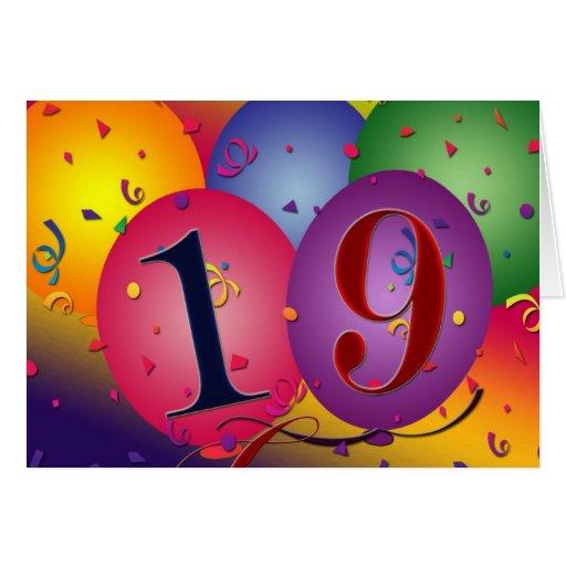 Happy_19th_birthday_greeting_card 137472067721947751 on Horizontal Writing Paper