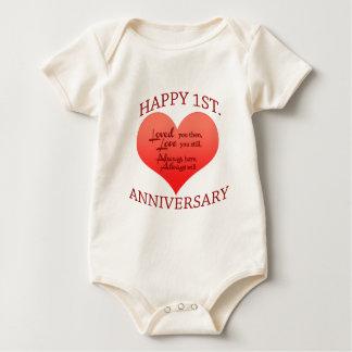 Happy 1st. Anniversary Baby Bodysuit