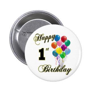 Happy 1st Birthday Button and Birthday Apparel