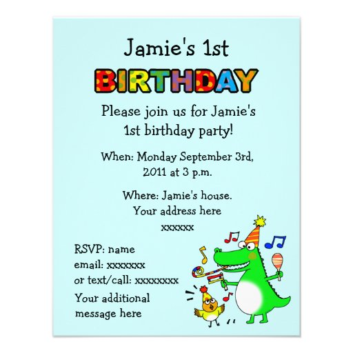 Happy 1st Birthday ( I am 1 ) Personalized Announcement