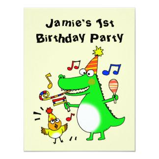 """Happy 1st Birthday ( I am 1 ) 4.25"""" X 5.5"""" Invitation Card"""