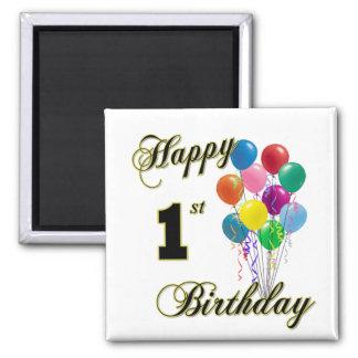 Happy 1st Birthday Magnet