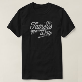 Happy 1st First Father's Day Vintage Distressed T-Shirt