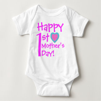 Happy 1st Mother's Day Baby Bodysuit