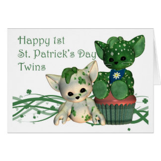 Happy 1st St. Patrick's Day Twins Card