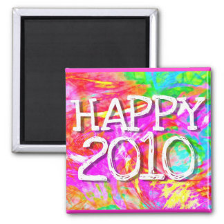 Happy 2010 square magnet