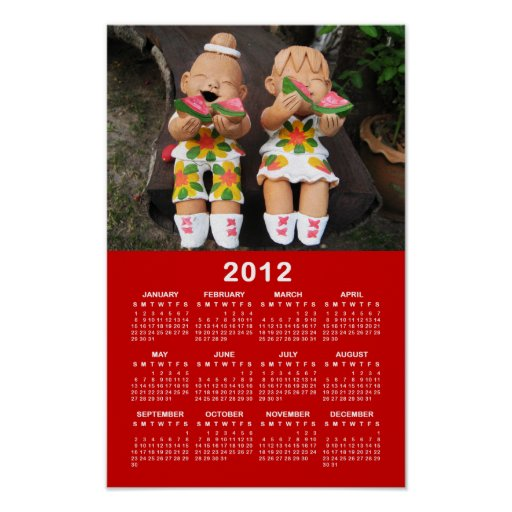 Happy 2012 Calendar ... Thailand Posters