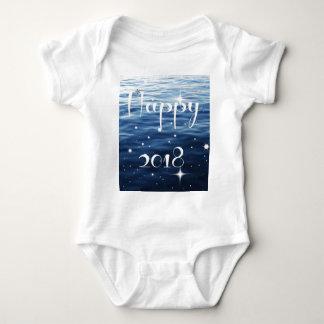 Happy 2018 baby bodysuit